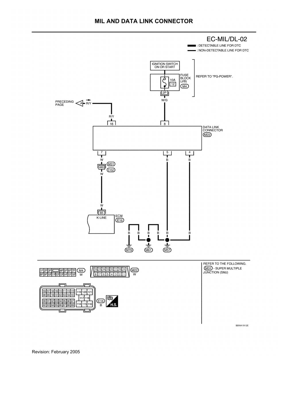2004 Nissan Xterra Xe Obd2 Wiring Diagram  U0026 Fuse Wiring