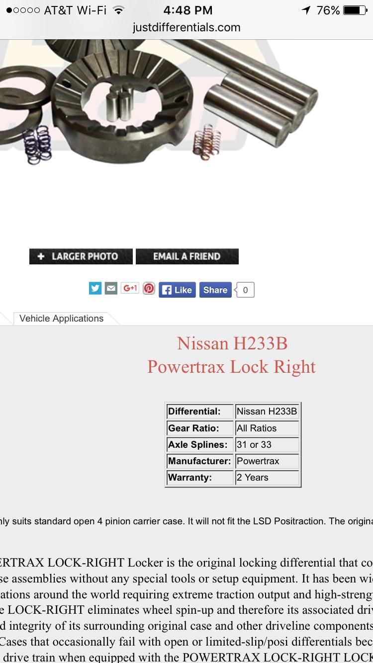 POWERTRAX LOCK-RIGHT Lockers - Just Differentials | Nissan